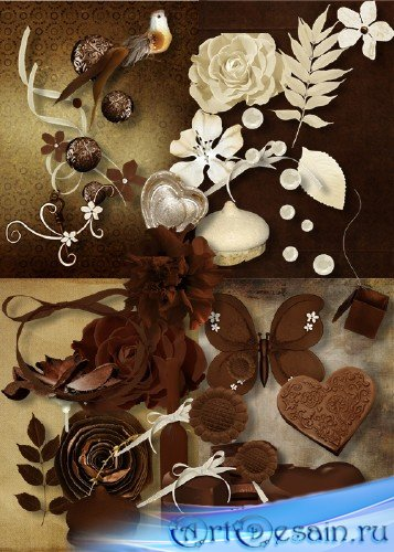 Шоколадный скрап-набор
