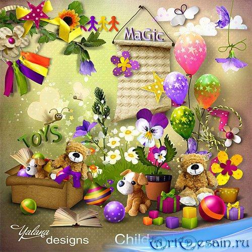 Праздничный детский скрап-набор - Мир детей