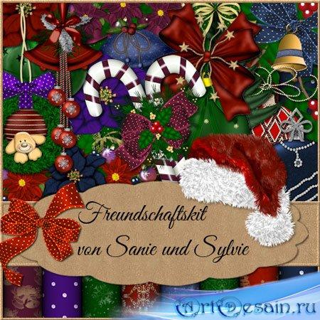 Рождественский скрап набор
