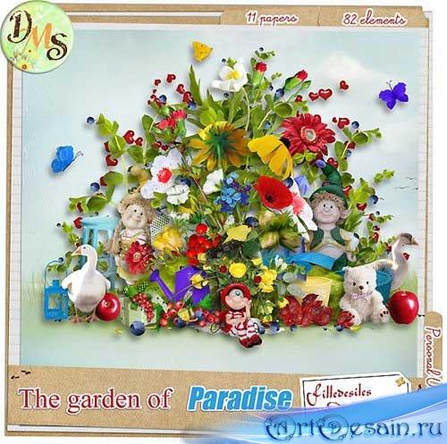 Красочный летний скрап-набор - Райский сад
