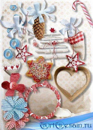 Скрап-набор - Рождественские элементы для дизайна