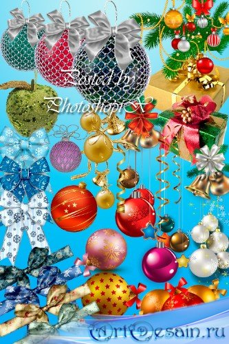 Новогодний PNG клипарт (на прозрачном фоне) – Праздничные атрибуты