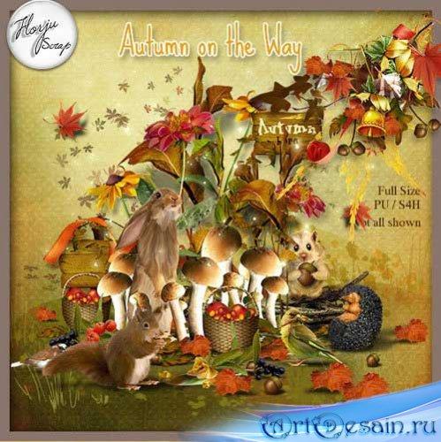 Очаровательный осенний скрап-набор - Осень в пути