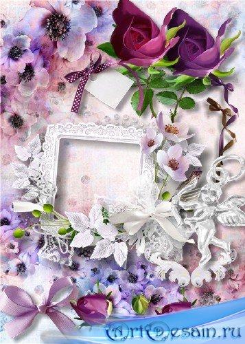 Скрап-набор - Фиолетовые цветочные фантазии