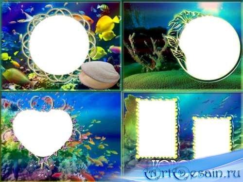Рамки для фото - Морские 2 (4 шт.)
