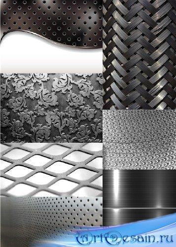 Растровый клипарт- Металлические фоны и текстуры