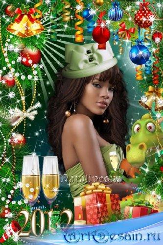 Новогодняя рамка  – Наступает Новый год, загадай желанья, пусть исполнит их ...