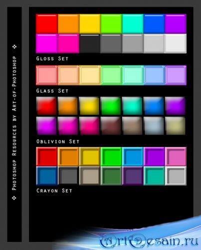 Разноцветные стили текста 5