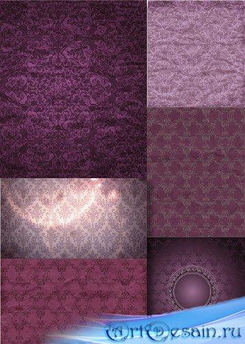 Растровый клипарт - Текстильные фиолетовые фоны