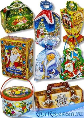 PNG клипарт - Новогодние подарки