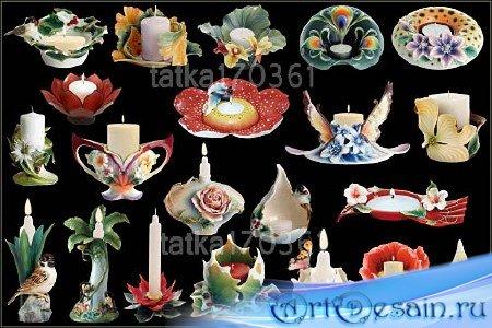 Клипарт - Декоративные свечи