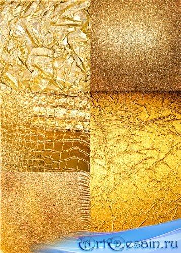 Растровый клипарт - Роскошные золотистые фоны