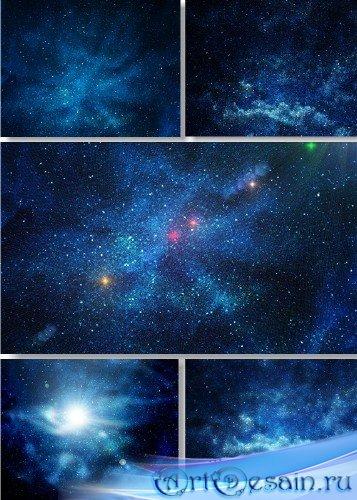 Растровый клипарт - Звезды и галактики
