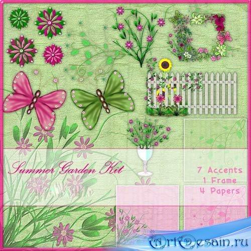 Бабочки в летнем саду
