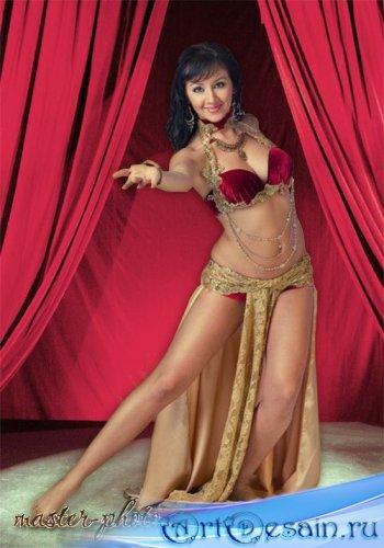 Женский шаблон для фотошопа - Восточные танцы