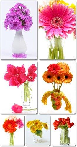 Клипарт - Цветы, букет, ваза