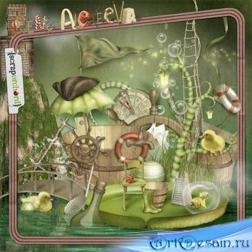 Детский скрап-набор - Приключения Лайлипонда. Scrap - Lilypond Adventures