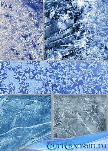 Растровый клипарт - Ледовые текстуры