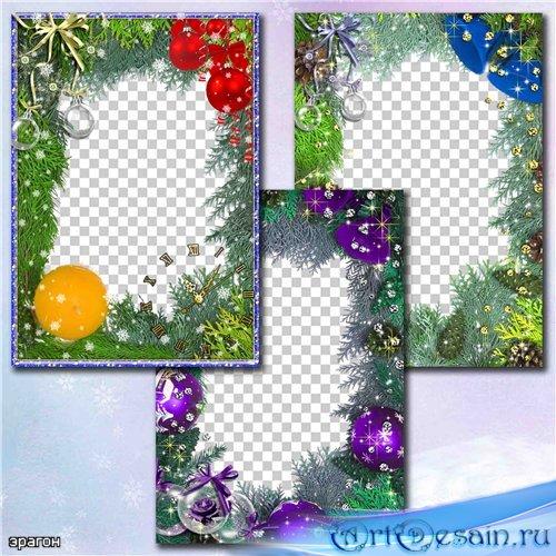 Праздничные рамки для фотошопа – Новогодняя фантазия