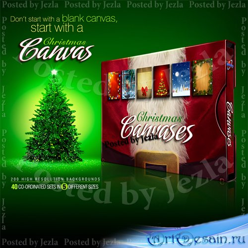 Christmas Canvases Collection 1