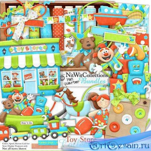 Яркий детский скрап набор - Игрушечный Магазин. Scrap- Toy Store