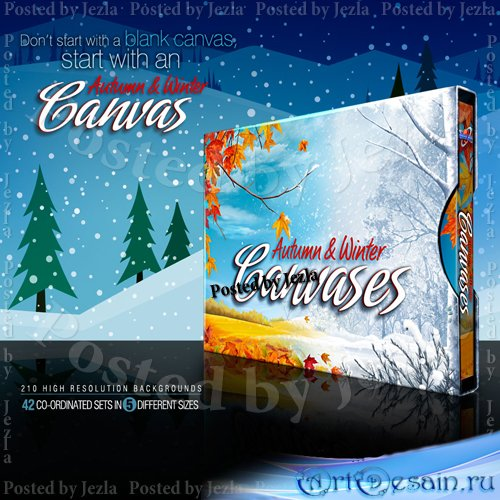 Коллекция фонов - Autumn and Winter Canvases