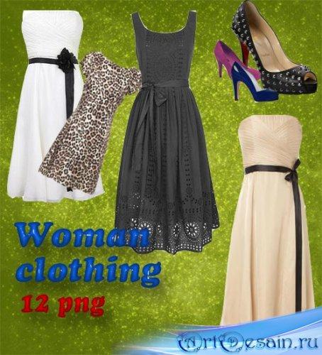 Женские платья и туфли