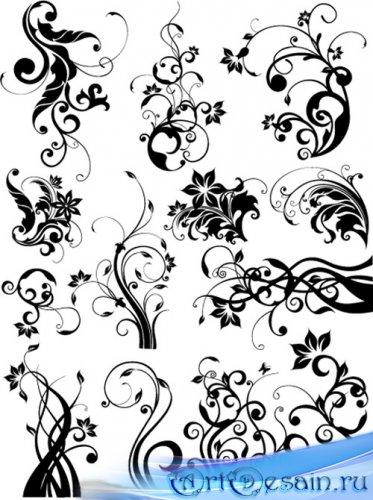 Floral design elements | Цветочные элементы в векторе