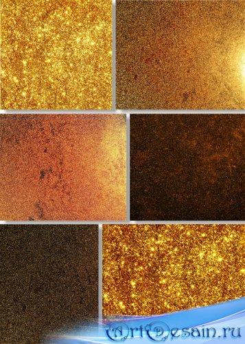 Растровый клипарт - Золотой песчанный фон
