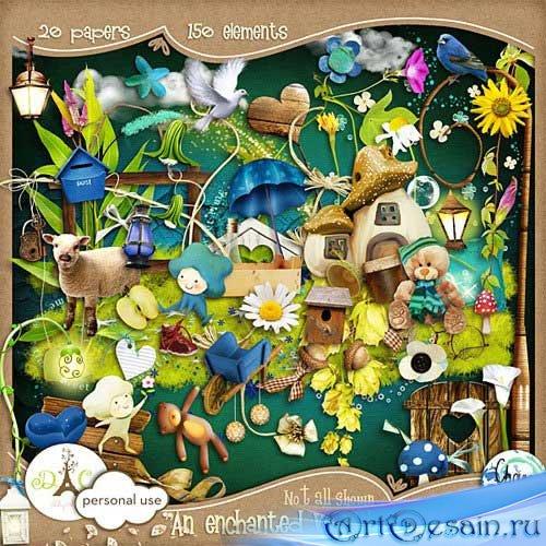Сказочный детский скрап-набор - Очарованный увиденный мир. Scrap - An encha ...