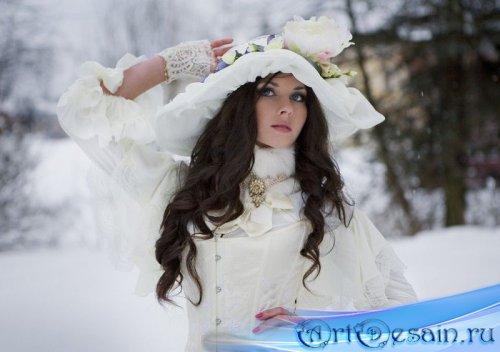 Женский шаблон - Леди в белом