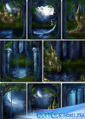 Фотосток - Темные ночные пейзажи