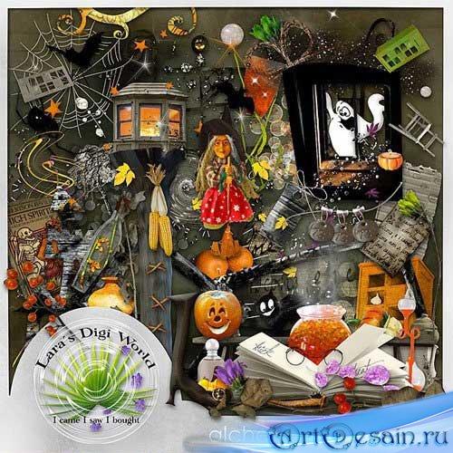 Праздничный скрап-набор - Ночь алхимии. Scrap - Alchemy night