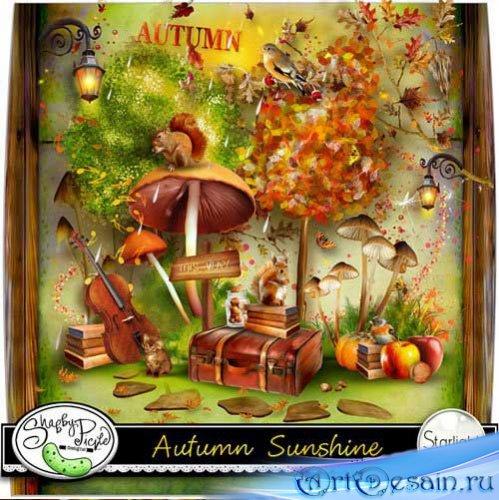 Очаровательный осенний скрап-набор - Осенний солнечный свет. Scrap - Autumn ...