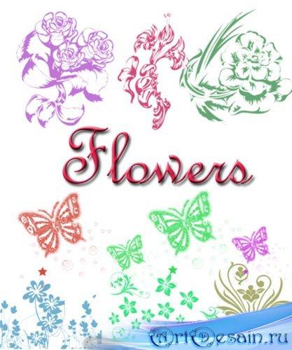 Кисти для Photoshop - Цветы