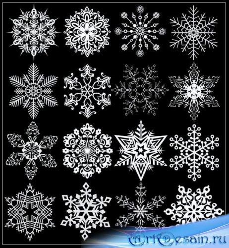 Кисти для фотошоп снежинки