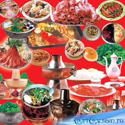 Красивые блюда в PSD