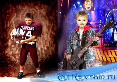 Детские шаблоны для фотошопа