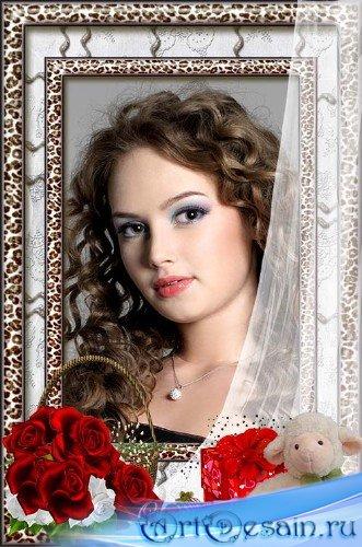 Рамка для фото – Корзина роз для тебя самая обаятельная и привлекательная