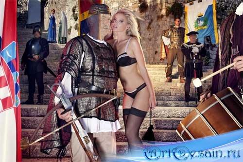 Шаблон мужской - современный рыцарь