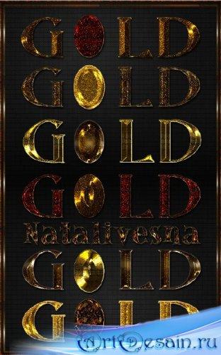 Золотые стили  для Photoshop 3/ Styles Gold Photoshop 3