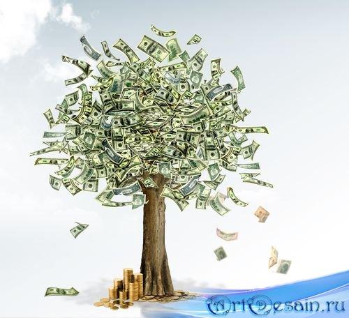 PSD исходник - Денежное дерево