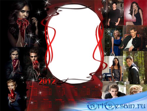 Calendar for 2012 - The Vampire Diaries