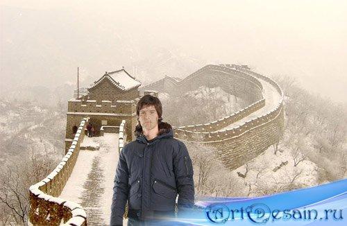 PSD шаблон для фотошоп - однажды в Китае