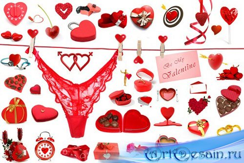Мегапак Клипарта - День святого Валентина (Valentine's Day) 2012