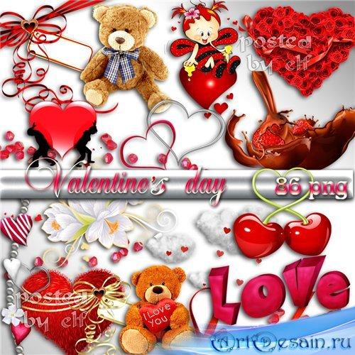 Клипарт в PNG - Валентинов день