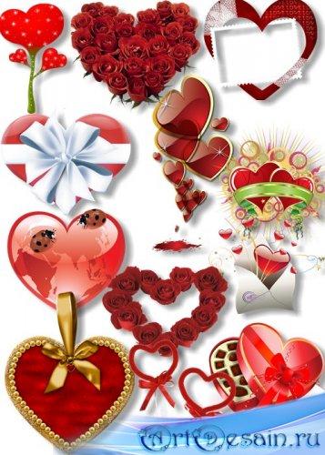 PNG Клипарт - Романтические сердечки