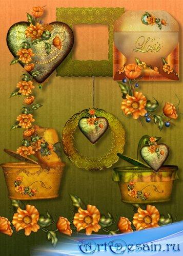 Скрап-набор - Оранжевое настроение