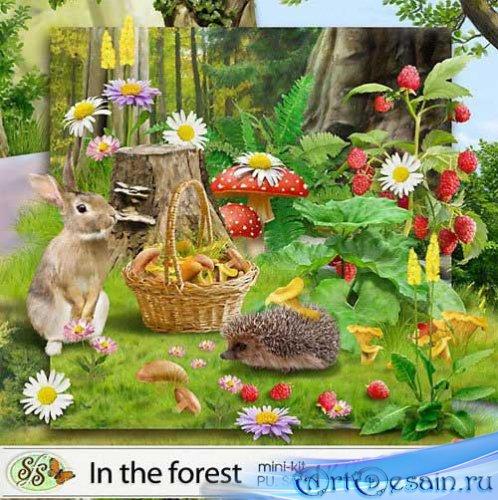 Очаровательный летний скрап-набор - В лесу. Scrap - In the forest