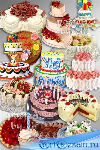Клипарт в PNG - Торты и тортики